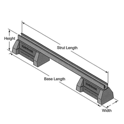 HBS-CB Bridge Length Supports w/ 2 HBS Bases and Channel
