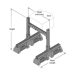 "HBS-DS 36"" Duct Support w/ Adjustable Width and Height"