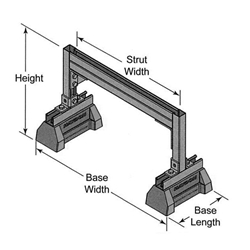 "Raised Bridge Length w/ HBS Bases 3 1/4"" H-132-A Back to Back Pre-Galvanized Steel Channel"