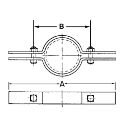 Standard Steel Pipe Clamp