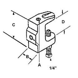"FIG. 60G - 1/4"" Beam Clamp"
