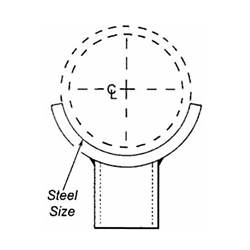 FIG. 421 - Adjustable Pipe Saddle Support with Threaded Coupling