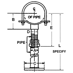 FIG. 427 - Adjustable Pipe Saddle Support with U-Bolt