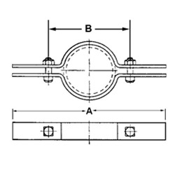 FIG. 50CTI - Epoxy Coated (COPPER-GARD) Copper Tubing Riser Clamp