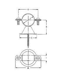 FIG. 129CTP - Van Bell Type Hanger Copper Plated