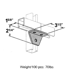 Three Hole Corner Joint Connector