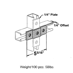Three Hole Offset Plate Connection