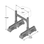 "HBS-DS 29"" Duct Support w/ Fixed Width and Adjustable Height"