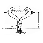 FIG. 229 - Malleable Beam Clamp with Extension Piece