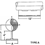 FIG. 4000 Series - Pipe Slide Tee