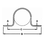 FIG. 231 - Two Hole Pipe Strap