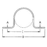 FIG. 231OD Two Hole Pipe Strap, 304 Stainless Steel, O.D.